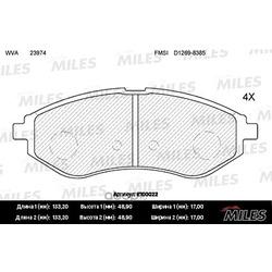 Колодки тормозные CHEVROLET AVEO 1.2-1.4 06- передние (Miles) E100022