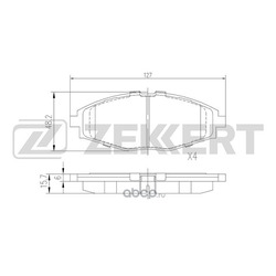 Колодки торм.диск. Daewoo Lanos (KLAT) 97- Matiz I (M100) 98- FR (Zekkert) BS1285