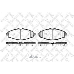 Комплект тормозных колодок (Stellox) 707000BSX