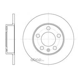 Тормозной диск (Remsa) 654700