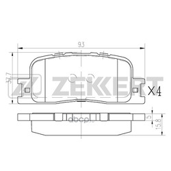 Колодки торм. диск. зад Toyota Camry (V30) 01- Kluger I 00- (Zekkert) BS2705
