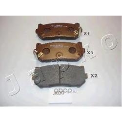 Комплект тормозных колодок, дисковый тормоз (JAPKO) 51K00