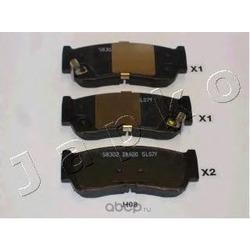 Комплект тормозных колодок, дисковый тормоз (JAPKO) 51H08