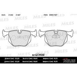 Колодки тормозные BMW X3 E83/X5 E53/3 E46 2.5/3.0/RANGE ROVER III 02- задние (Miles) E110095
