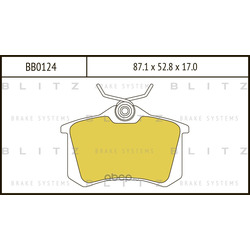 Колодки тормозные дисковые (Blitz) BB0124