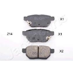 Колодки тормозные дисковые задние, комплект (Japanparts) PP214AF