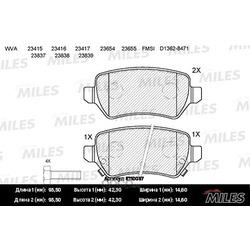 Колодки тормозные OPEL ASTRA G/H/ZAFIRA A задние (Miles) E110057