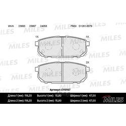 Колодки тормозные KIA SORENTO (JC) 2.4-3.5 02- задние (Miles) E110167