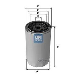Масляный фильтр (UFI) 2313001