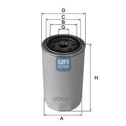 Масляный фильтр (UFI) 2343600