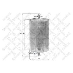 Топливный фильтр (Stellox) 2100014SX
