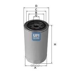 Масляный фильтр (UFI) 2341700