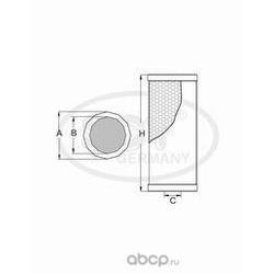 Масляный фильтр (SCT) SH420P