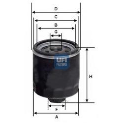 Масляный фильтр (UFI) 2342800