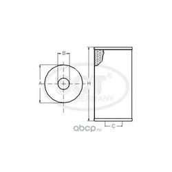 Масляный фильтр (SCT) SH453P