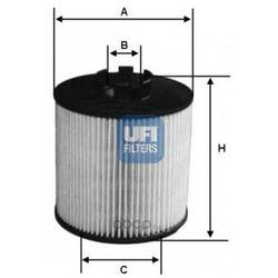 Масляный фильтр (UFI) 2501200