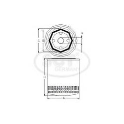 Фильтр масляный (SCT) SM133