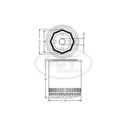 Масляный фильтр (SCT) SM174