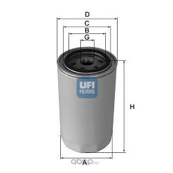 Масляный фильтр (UFI) 2316403