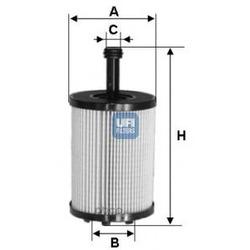 Масляный фильтр (UFI) 2502300