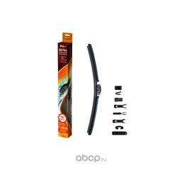 """Щетка стеклоочистителя 450 мм (18"""") бескаркасная, 10 адаптеров (AIRLINE) AWBBK450"""