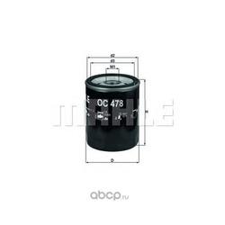 Масляный фильтр (Mahle/Knecht) OC478