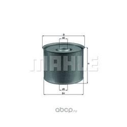 Фильтр топливный (Mahle/Knecht) KX23D