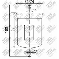 Фильтр топливный (JS Asakashi) FS2070