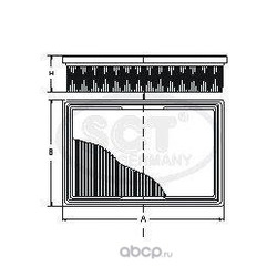 Воздушный фильтр (SCT) SB2005