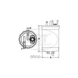 Фильтр топливный (SCT) ST304