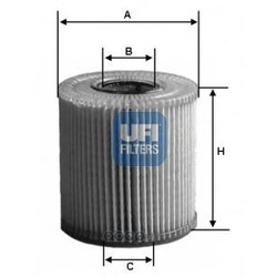 Масляный фильтр (UFI) 2502100