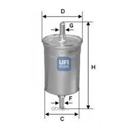 Топливный фильтр (UFI) 3171800