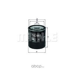 Масляный фильтр (Mahle/Knecht) OC981