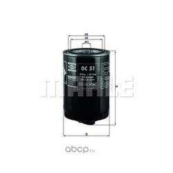 Масляный фильтр (Mahle/Knecht) OC51
