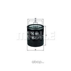 Масляный фильтр (Mahle/Knecht) OC501