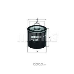 Масляный фильтр (Mahle/Knecht) OC988
