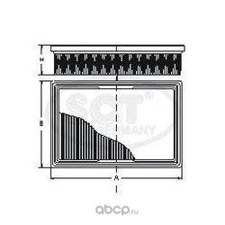 Воздушный фильтр (SCT) SB2166