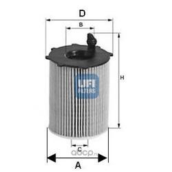 Масляный фильтр (UFI) 2510500