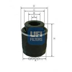 Масляный фильтр (UFI) 2349400