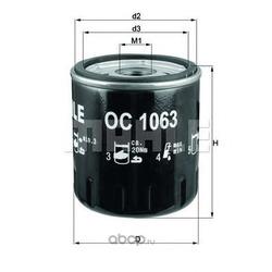 Масляный фильтр (Mahle/Knecht) OC1063