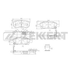 Колодки торм. диск. зад Mitsubushi Lancer (CS) 03- Lancer (CX) 08- Outlander (CU CW) 03- (Zekkert) BS1358
