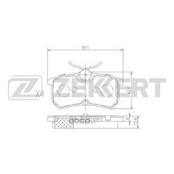 Колодки торм. диск. зад Ford Fiesta V 05- Focus I 98- (Zekkert) BS1662