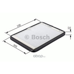 Фильтр, воздух во внутреннем пространстве (Bosch) 1987432018