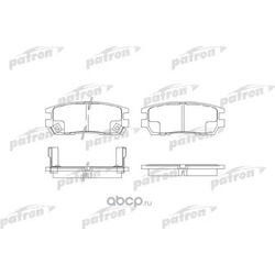 Колодки тормозные дисковые задние (PATRON) PBP804