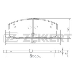 Колодки торм. диск. зад Mazda 323 VI 98- 626 V 97- 6 I II 02- Premacy (CP) 99- (Zekkert) BS1100