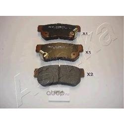 Комплект тормозных колодок, дисковый тормоз (Ashika) 510HH04