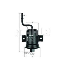 Топливный фильтр (Mahle/Knecht) KL563