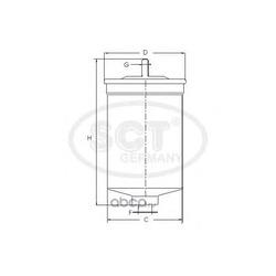 Топливный фильтр (SCT) ST6090