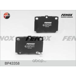 Комплект тормозных колодок, дисковый тормоз (FENOX) BP43358