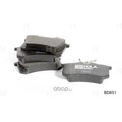 Колодки дисковые (HOLA) BD851